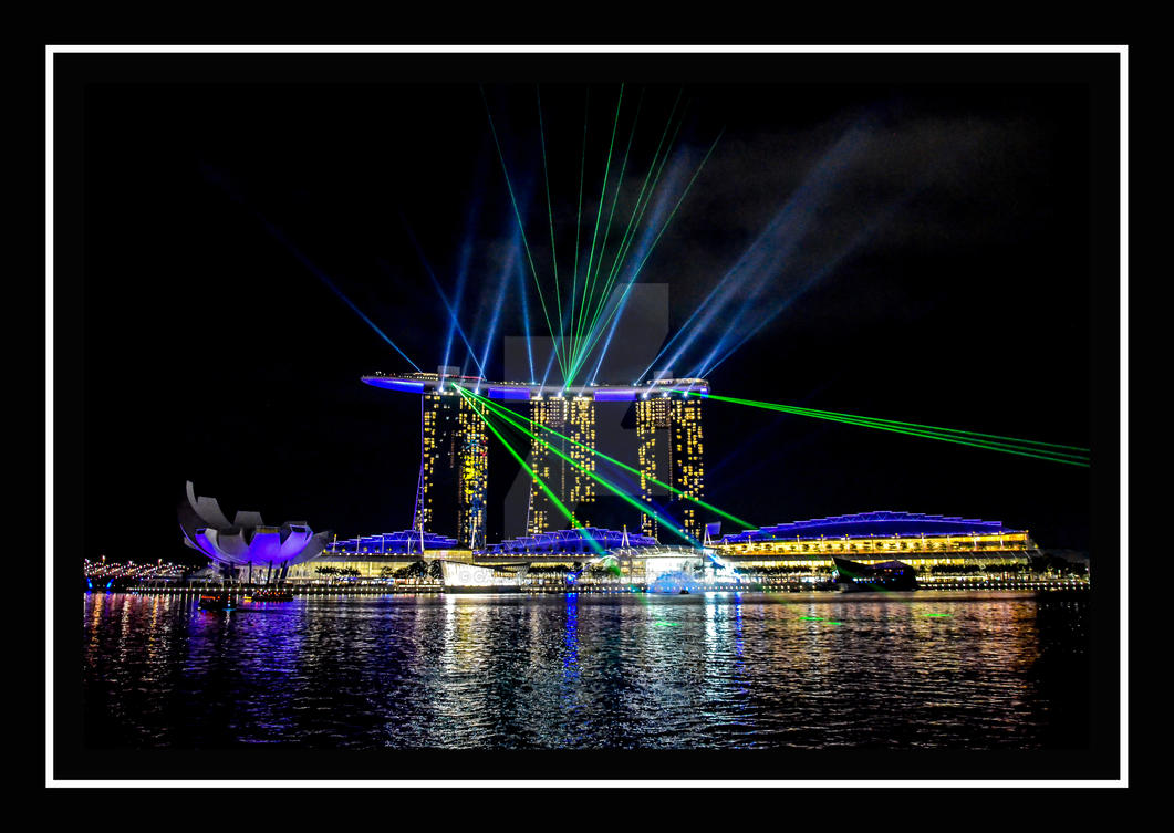 marina bay sands light show singapore by carsonblack on deviantart