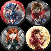 Captain America: Civil War Pin Set! by malphigus