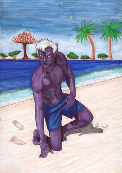 Commission: Dusky Beach Hunk