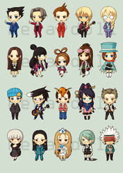 DO10: Ace Attorney Chibis
