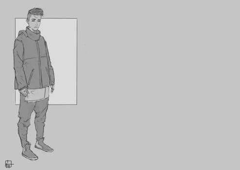 Techwear Flat Grayscale