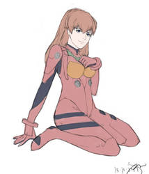Asuka Langley Quick Sketch