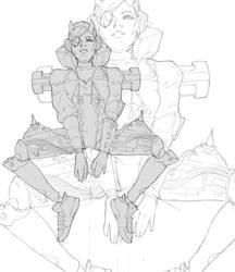 Daily sketch: Apex Legends' Wattson fan art