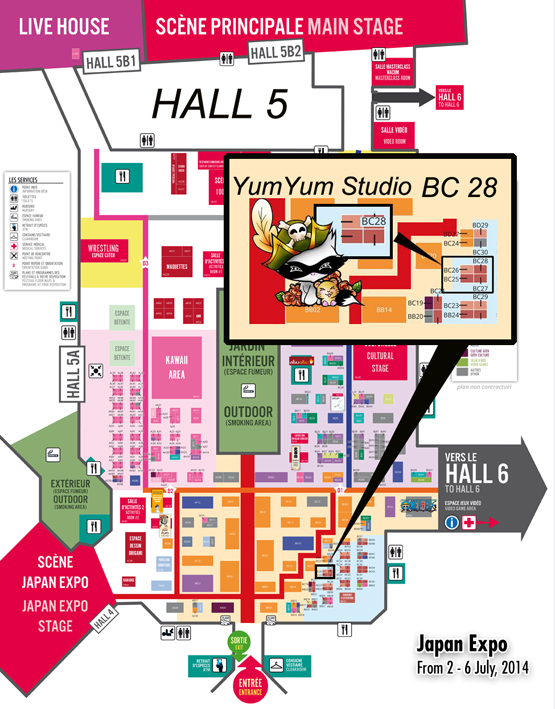 Plan Japan Expo 2014 - YumYum Studio by Kalahan