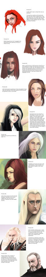 Portrait Practice - 10 Image Progression