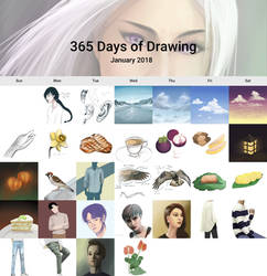 360 of sketches - January 2018