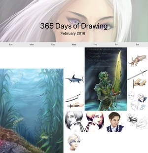 365 days of sketches - January 2018