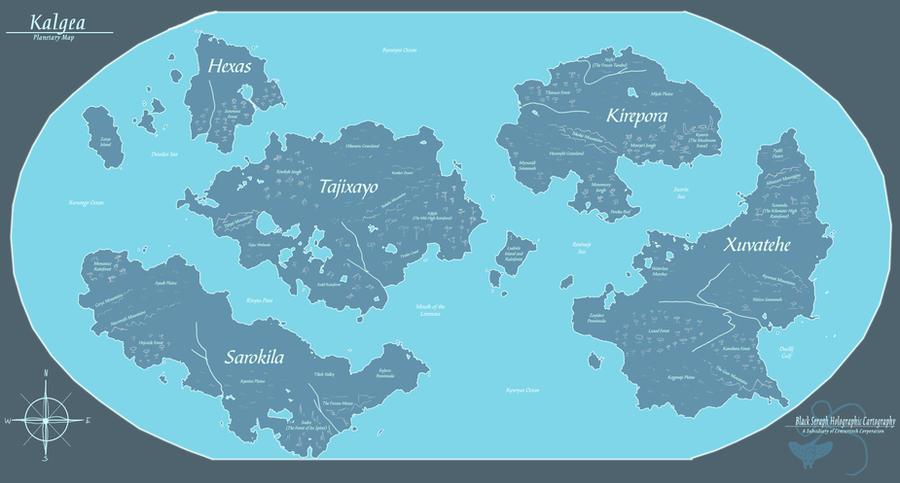Kalgea - Planetary Map by Ulario on DeviantArt