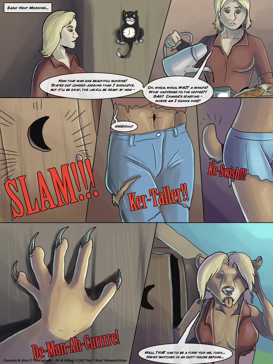 Werewolf Girl Transformation Comic