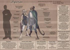 Syvorian - Species Model Sheet by Ulario