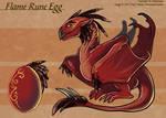 The Flame Rune Egg - Adoptable