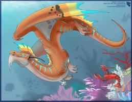Coral Reef Dragon by Ulario