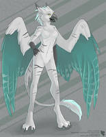 GreyGhost Gryphon (Grown-Up Adoptable) by Ulario