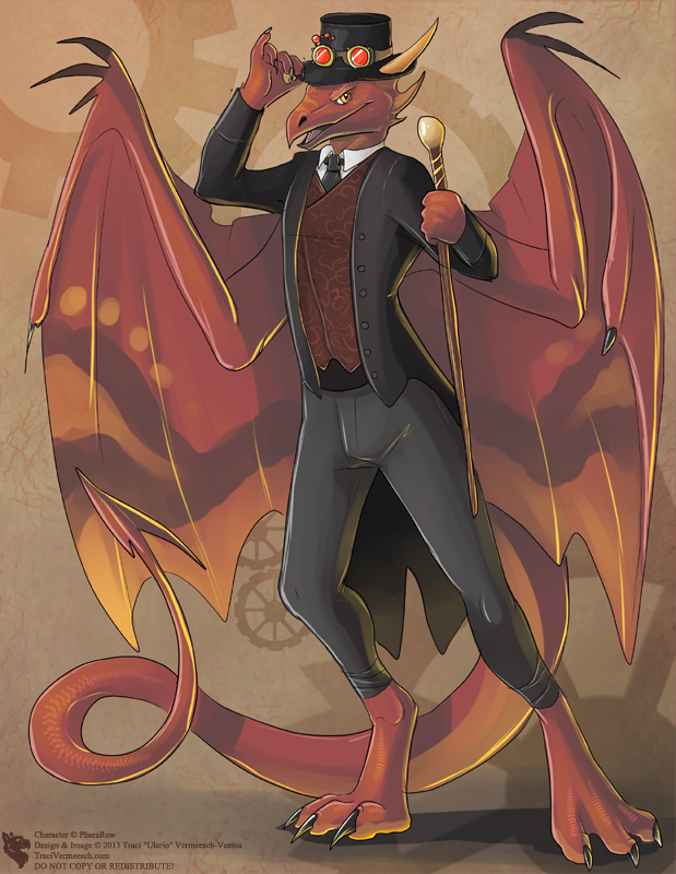 Steampunk Dragon (Commission) by Ulario