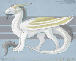Gold Rune Dragon by Ulario