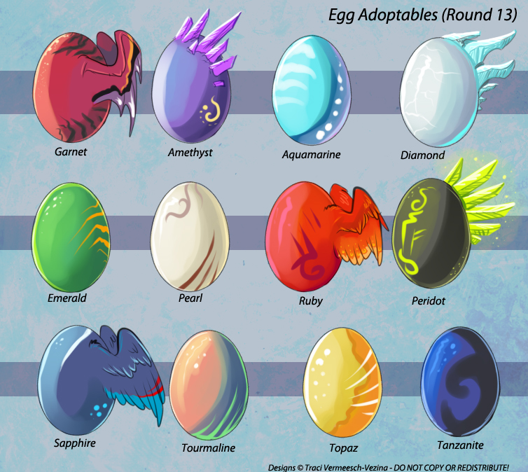 Egg Adoptables - Round 13 (All Gone!) by Ulario