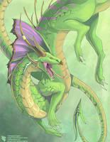 Chlorophyll Dragon by Ulario