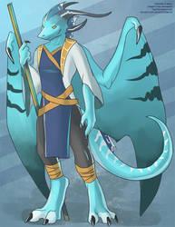 The Aquamarine Dragon by Ulario