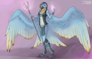 Burd Wizard - Character Design Commission by Ulario