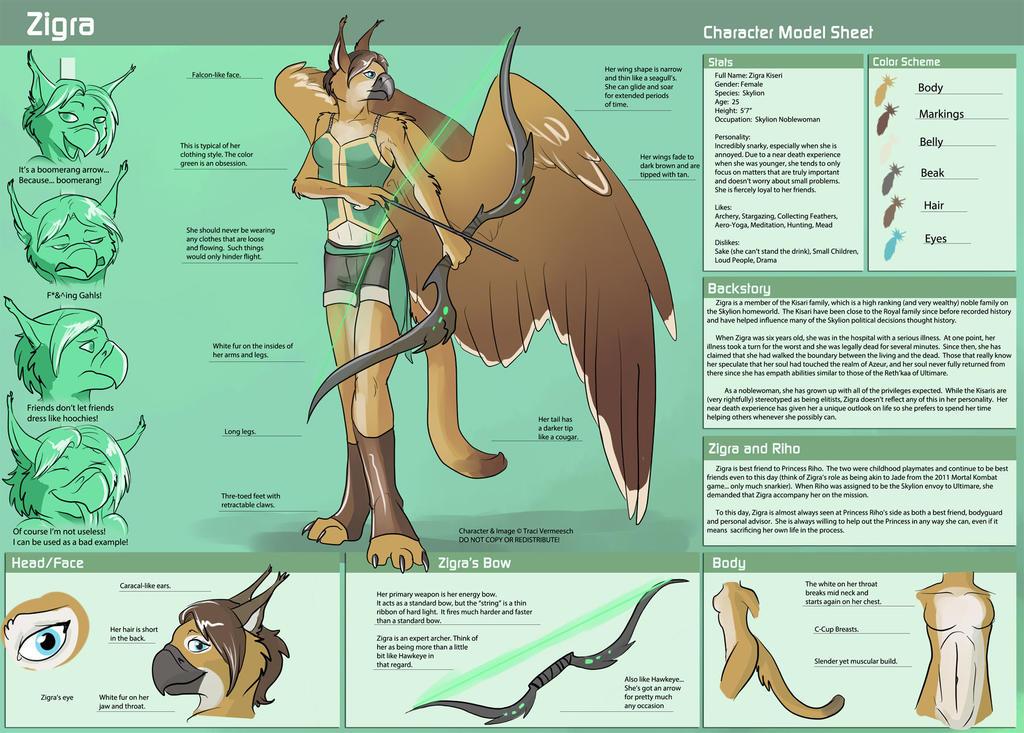 [Personal] Zigra Character Sheet by Ulario