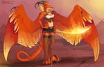 [Character Design] Myrrine The Fire Dragon