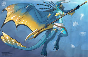 [Character Design]  Naevia the Water Dragon by Ulario