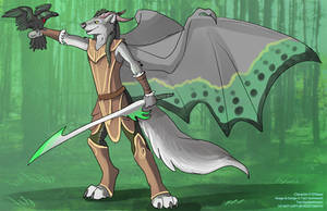 [Blind Character Design] Elven DragonWolf by Ulario