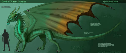 [Personal] Greater Forest Dragon - Concept by Ulario