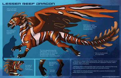 [Personal] Reef Dragon - Species Sheet by Ulario
