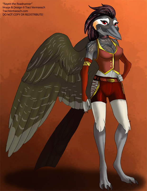 [Character Auction] Rayen the Roadrunner by Ulario