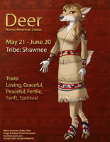 [Character Auction] Native American Zodiac:  Deer by Ulario