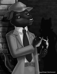 [Witchy Anthros] Film Noir Warlock by Ulario