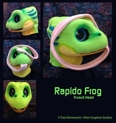 [Commission] Rapido Frog Head