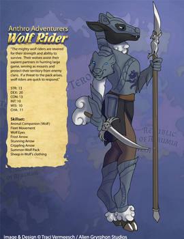 [Anthro Adventurers] Wolf Rider