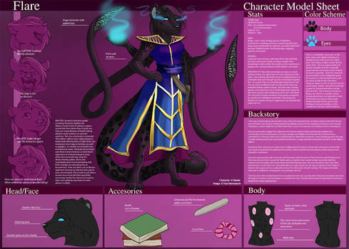 [Commission] Flare - Character Sheet