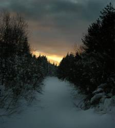 barns-en winter scenery by barns-en