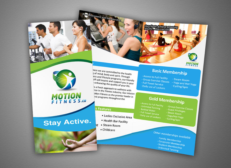 Motion Fitness Brochure Design By Motivedezign On Deviantart