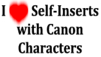 I love Self inserts with Canon characters stamp F2