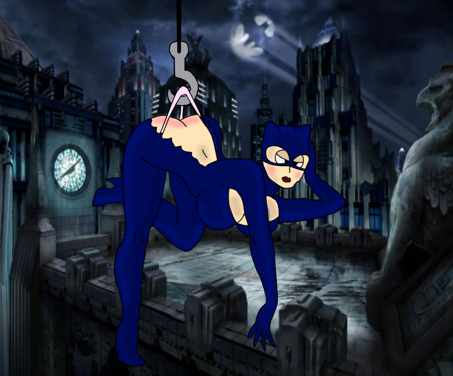 Cat Woman Gets a Wedgie by megayolk