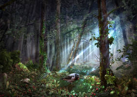 Enchanted Forest, Wild Strawberries by Haizy