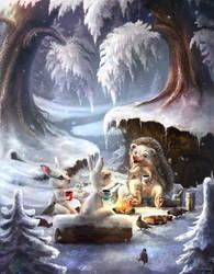 Winter campfire stories