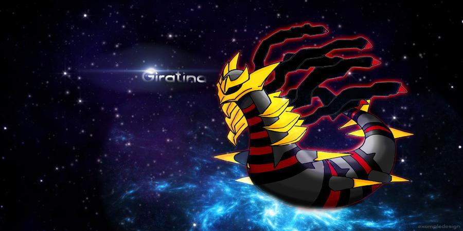 Giratina The Dark Pokemon Background by exampledesign