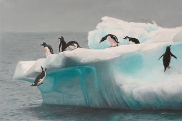 Seven Penguins by ArielRGH