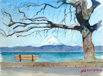 Frutillar in watercolor by ArielRGH
