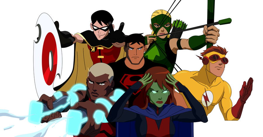 Ery présente Young Justice Young_justice___the_team_by_1984neptune-d5pjw6a