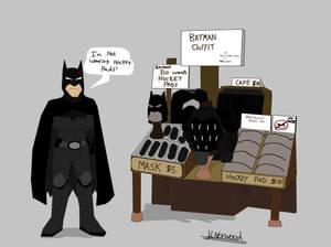 Batman - I'm not wearing hockey pads