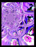 Purple flower fractal