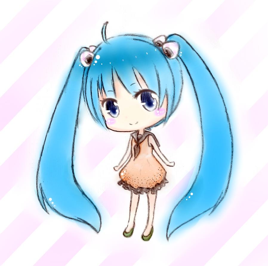 Chibi Hatsune Miku_Onigiri by TinyTiny09