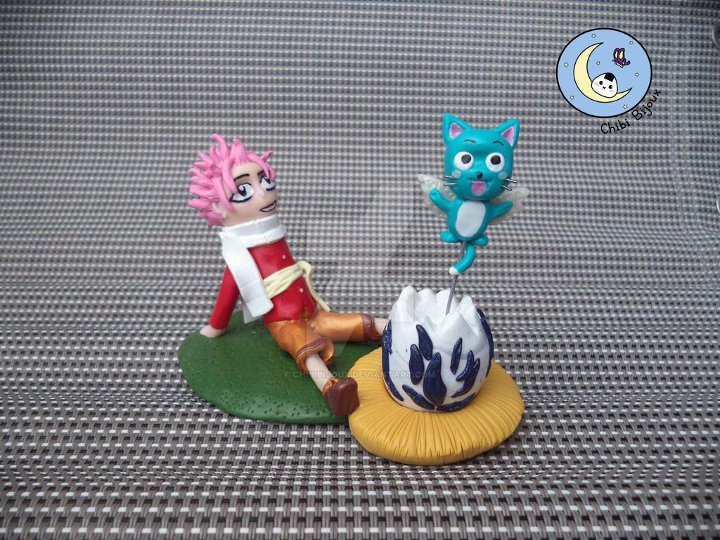 figurine natsu and happy baby manga fairy tail by chibibijoux on deviantart. Black Bedroom Furniture Sets. Home Design Ideas