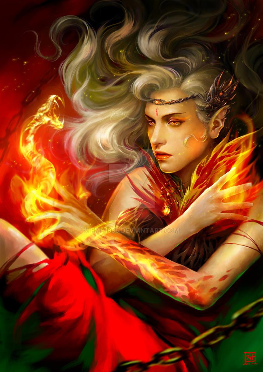 Fiery serpent by fmh1986
